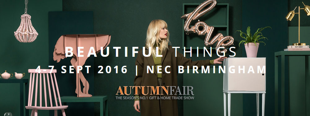Autumn Fair wholesale gift and home trade show NEC 2016