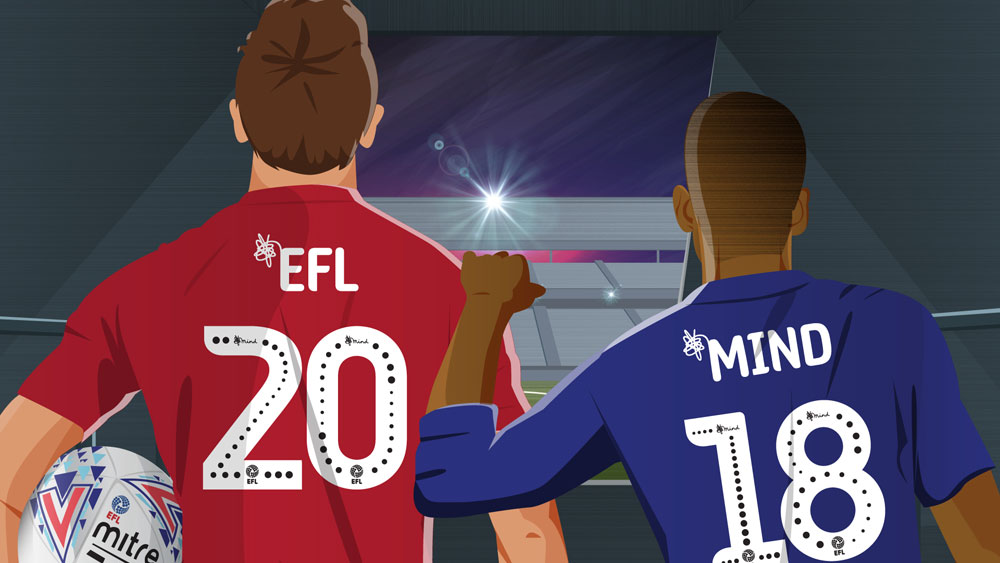 Touchretail are commissioned to incorporate the EFL 2018/19 mental health charity 'Mind' font into the TRIMS Sports Retail Platform.