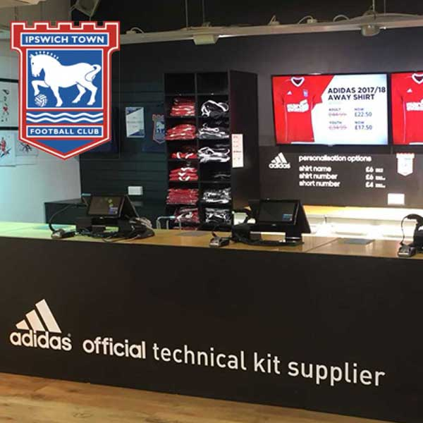 Ipswich Town FC replace legacy system hardware with AURES EPOS, powered by Touchretail