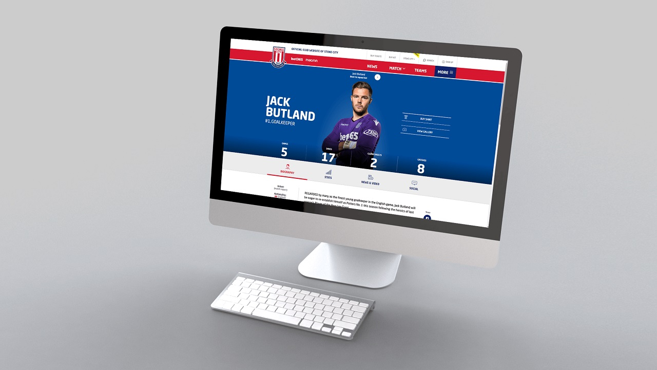 Stoke City FC reveal new-look official website